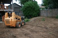 landscape tractor work for soil grading