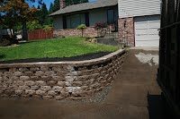 manor stone wall installed